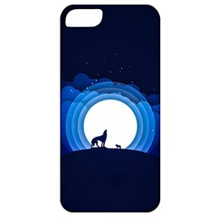 Month Full Moon Wolf Night Apple Iphone 5 Classic Hardshell Case