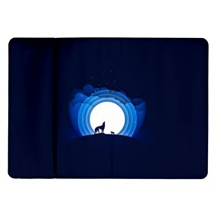 Month Full Moon Wolf Night Samsung Galaxy Tab 10 1  P7500 Flip Case