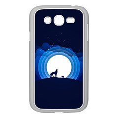 Month Full Moon Wolf Night Samsung Galaxy Grand Duos I9082 Case (white)
