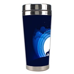 Month Full Moon Wolf Night Stainless Steel Travel Tumblers by Nexatart