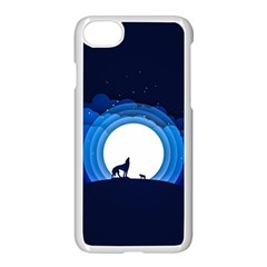 Month Full Moon Wolf Night Apple Iphone 7 Seamless Case (white) by Nexatart