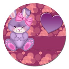 Illustration Love Celebration Magnet 5  (round)