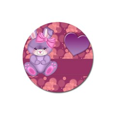 Illustration Love Celebration Magnet 3  (round)