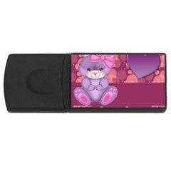 Illustration Love Celebration Rectangular Usb Flash Drive