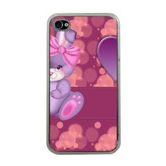 Illustration Love Celebration Apple Iphone 4 Case (clear)