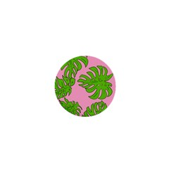 Leaves Tropical Plant Green Garden 1  Mini Buttons by Nexatart