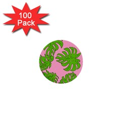 Leaves Tropical Plant Green Garden 1  Mini Buttons (100 Pack)