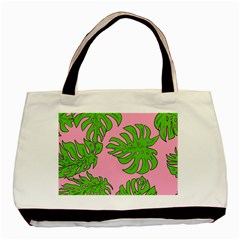 Leaves Tropical Plant Green Garden Basic Tote Bag by Nexatart