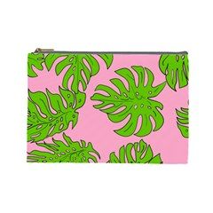 Leaves Tropical Plant Green Garden Cosmetic Bag (large)