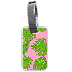 Leaves Tropical Plant Green Garden Luggage Tags (two Sides) by Nexatart