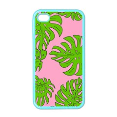 Leaves Tropical Plant Green Garden Apple Iphone 4 Case (color) by Nexatart