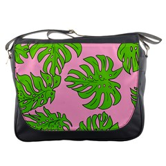 Leaves Tropical Plant Green Garden Messenger Bag