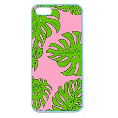 Leaves Tropical Plant Green Garden Apple Seamless Iphone 5 Case (color) by Nexatart