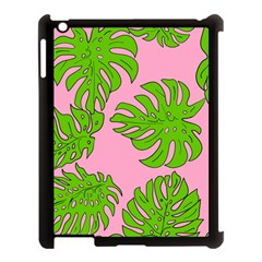 Leaves Tropical Plant Green Garden Apple Ipad 3/4 Case (black)