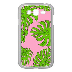 Leaves Tropical Plant Green Garden Samsung Galaxy Grand Duos I9082 Case (white) by Nexatart