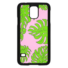 Leaves Tropical Plant Green Garden Samsung Galaxy S5 Case (black) by Nexatart
