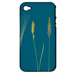 Grass Grasses Blade Of Grass Apple Iphone 4/4s Hardshell Case (pc+silicone)