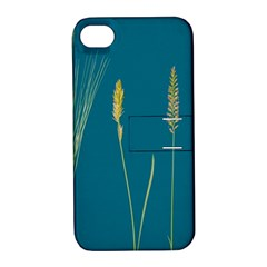 Grass Grasses Blade Of Grass Apple Iphone 4/4s Hardshell Case With Stand