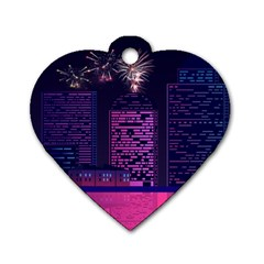 Architecture Home Skyscraper Dog Tag Heart (two Sides)