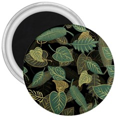 Autumn Fallen Leaves Dried Leaves 3  Magnets by Nexatart