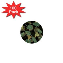 Autumn Fallen Leaves Dried Leaves 1  Mini Buttons (100 Pack)