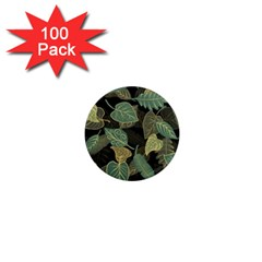 Autumn Fallen Leaves Dried Leaves 1  Mini Magnets (100 Pack)