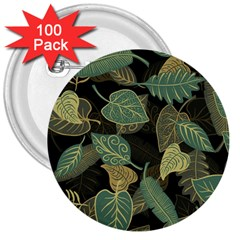 Autumn Fallen Leaves Dried Leaves 3  Buttons (100 Pack)  by Nexatart