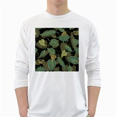 Autumn Fallen Leaves Dried Leaves Long Sleeve T Shirt