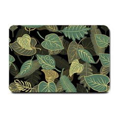 Autumn Fallen Leaves Dried Leaves Small Doormat  by Nexatart