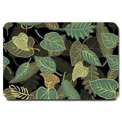 Autumn Fallen Leaves Dried Leaves Large Doormat  by Nexatart