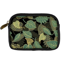 Autumn Fallen Leaves Dried Leaves Digital Camera Leather Case