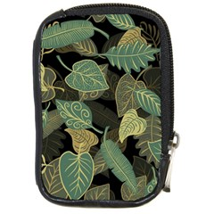 Autumn Fallen Leaves Dried Leaves Compact Camera Leather Case