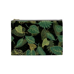 Autumn Fallen Leaves Dried Leaves Cosmetic Bag (medium)
