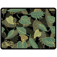 Autumn Fallen Leaves Dried Leaves Fleece Blanket (large)