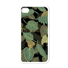 Autumn Fallen Leaves Dried Leaves Apple Iphone 4 Case (white) by Nexatart
