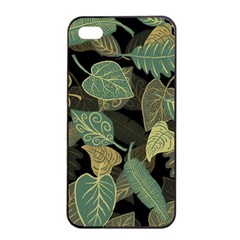 Autumn Fallen Leaves Dried Leaves Apple Iphone 4/4s Seamless Case (black) by Nexatart