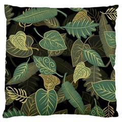Autumn Fallen Leaves Dried Leaves Large Cushion Case (two Sides) by Nexatart