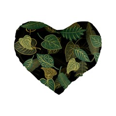 Autumn Fallen Leaves Dried Leaves Standard 16  Premium Heart Shape Cushions
