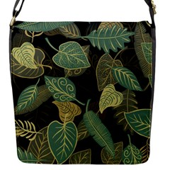 Autumn Fallen Leaves Dried Leaves Flap Closure Messenger Bag (s) by Nexatart