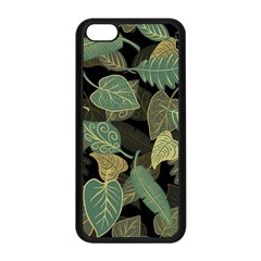 Autumn Fallen Leaves Dried Leaves Apple Iphone 5c Seamless Case (black) by Nexatart