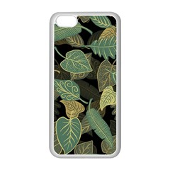 Autumn Fallen Leaves Dried Leaves Apple Iphone 5c Seamless Case (white) by Nexatart