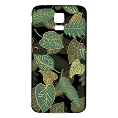 Autumn Fallen Leaves Dried Leaves Samsung Galaxy S5 Back Case (white)