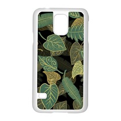 Autumn Fallen Leaves Dried Leaves Samsung Galaxy S5 Case (white) by Nexatart