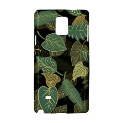 Autumn Fallen Leaves Dried Leaves Samsung Galaxy Note 4 Hardshell Case by Nexatart