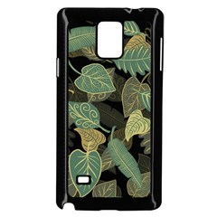 Autumn Fallen Leaves Dried Leaves Samsung Galaxy Note 4 Case (black) by Nexatart