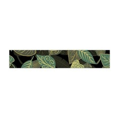 Autumn Fallen Leaves Dried Leaves Flano Scarf (mini) by Nexatart