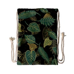 Autumn Fallen Leaves Dried Leaves Drawstring Bag (small)
