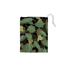 Autumn Fallen Leaves Dried Leaves Drawstring Pouch (xs)