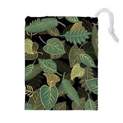 Autumn Fallen Leaves Dried Leaves Drawstring Pouch (xl)