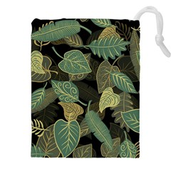Autumn Fallen Leaves Dried Leaves Drawstring Pouch (xxl)